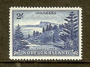 Norfolk Island, Scott #24, 2sh View of Bay, MH