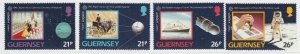 Guernsey 1991 Europa Europe in Space MNH** Full Set A19P22F1
