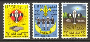 Libya Sc# 307-309 MH 1966 Boy Scout and Girl Guide Camps