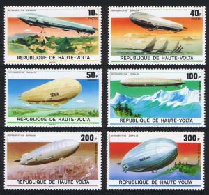 Upper Volta Zeppelin Anniversary 6v MI#625-631 SC#395-397+C234-C236