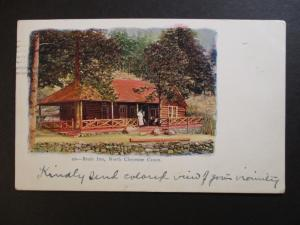 1906 Denver Colorado to Alberta Canada North Cheyenne RPPC Postcard Cover
