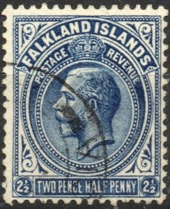 Falkland Islands 1921-1929 Scott #44 VF Used Wmk 4
