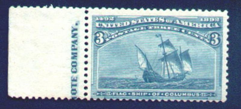 232 Fine+ OG NH, with imprint,  Very Nice t625