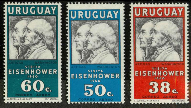 Uruguay C203-C205 Mint F-VF H