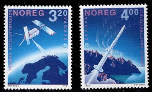 Norway Scott 989-990 MNH** Europa 1991 Space set