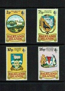 Falkland Islands: 1975  Heraldic Arms, MNH set