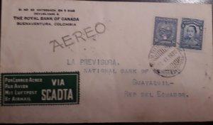 O) 1930 COLOMBIA, SANTANDER, MAGDALENA RIVER AND TOLIMA VOLCANO -SCADTA - MIT
