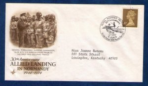 Sg X861 Allied Landing Normandy Franc Postal History Cover Royal Marines 6-06-74