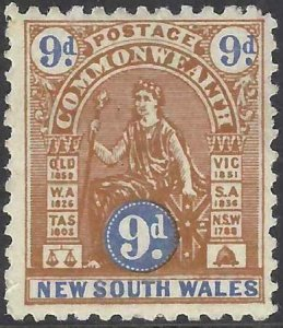 Australia - New South Wales 1906-1907 SC 128a Mint SCV $175.00