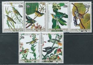 Cook Islands - Audubon Bird Illustrations - 6 Stamp Set - 3L-009