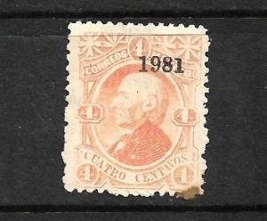 MEXICO  1874-81  4c ORANGE  MLH  Sc 105