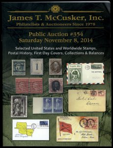 James T. McCusker Auction 354 Catalog, November 8, 2014