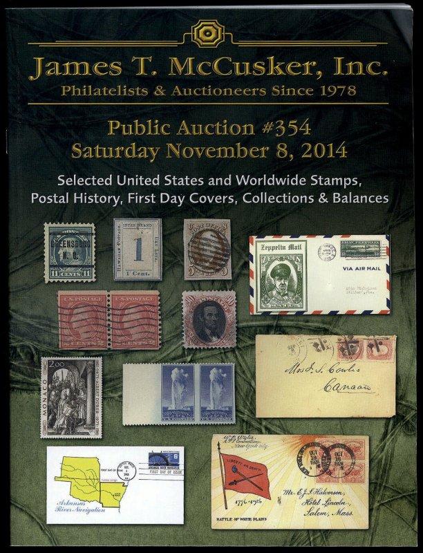 James T. McCusker Auction 354 Catalog, November 8, 2014