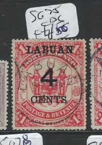 LABUAN (P2101B) 4C/$1.00   ARMS, LION  SG75  VFU
