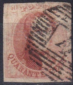 Belgium #8   F-VF Used   CV $110.00  (Z7126)