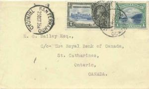 Trinidad 2c KGV Silver Jubilee and 1c First Boca 1935 San Fernando, Trinidad ...