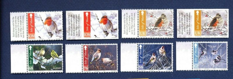 ISLE OF MAN - Scott 1456-1462 - VF MNH - Birds in Winter - 2011
