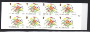 Guernsey 1992  23 p Mixed Freesia stamp booklet NH #488c