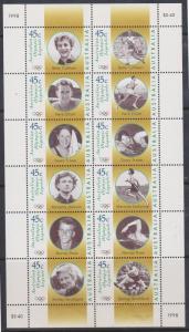 Australia - 1998 Legends Sheet of 12 VF-NH #1634