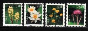 Norway #1244-47 ~ Cplt Set of 4 ~ Used, HMR