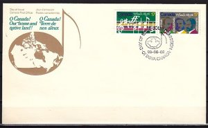 Canada, Scott cat. 857-858. National Anthem issue. First day cover. ^
