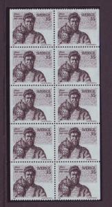 Sweden Sc819a 1969 Engstrom Owl stamp booklet pane