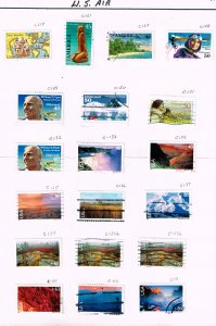 US STAMP BOB AIR MAIL USED STAMP COLLECTION LOT  #2
