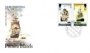 Pitcairn Island, Worldwide First Day Cover, U.S. Ships