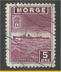 NORWAY, 1945, used 5o, Sleipner, Scott 259