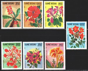Guinea-Bissau. 1983. 724-30. flowers, flora. MNH.