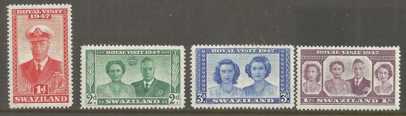 SWAZILAND  44-47  MNH,  ROYAL VISIT ISSUE