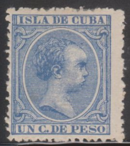 1890-97 Cuba Stamps Sc 134 King Alfonso Spain 1c  NEW