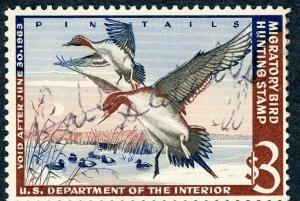 #RW29 – 1962 $3.00 Pintail Drakes. Used.