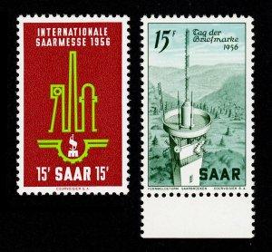 SAAR SCOTT #260-261 MNH-OG 1956