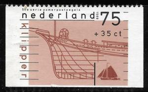 Netherlands #B646 75c + 35c Clipper Ship