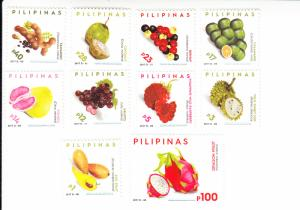 2017 Philippines  Fruits Dated 2017D (10) (Scott NA) MNH