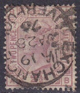 Great Britain #66 Plate 2 F-VF Used CV $90.00 (Z4283)