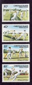 Christmas Is.-Sc#157-60-unused NH set-Sports-Cricket-