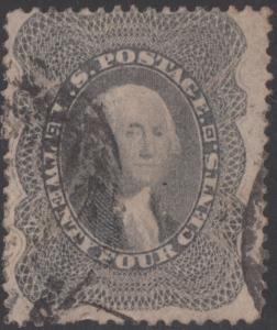 #37 F-VF USED WITH RED CANCEL CV $375.00 BN8295