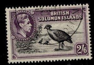 BRITISH SOLOMON ISLANDS GV SG70, 2s 6d black and violet, FINE USED.