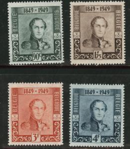BELGIUM Scott 386-9 COB 807-10 Leopold 1st MNH** 1949 set