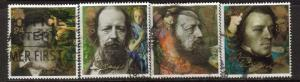 Great Britain Sc 1441-5 1992 Lord Tennyson stamps used