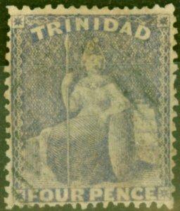 Trinidad 1860 4d Lilac SG48 Good Used