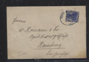 GERMAN CAMEROUN (P1809B) 20PF FORERUNNER DEUTSCHES SCHUTZGEBIET KRIBI TO GERMANY