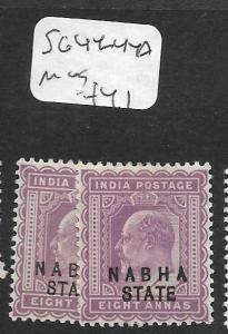 INDIA  NABHA  (PP1305B) KE  8A  SG 44, 44B  MOG