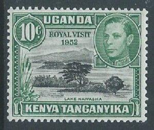 Kenya, Uganda & Tanganyika, Sc #98, 10c MH
