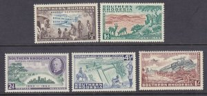 Southern Rhodesia 74-78 MNH OG 1953 Matabeleland Diamond Jubilee Full Set