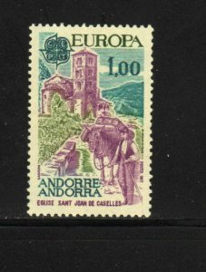 ANDORRA, FRENCH #254  1977   EUROPA  MINT VF NH  O.G