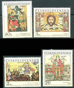 CZECHOSLOVAKIA 1970 SC 1722 - 1725  Slovak Icon Christ Set Mint Never Hinged VF