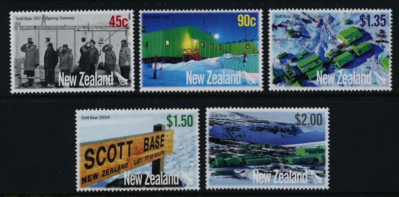 New Zealand 2105-9 MNH Scott Base, Antarctica, Architecture